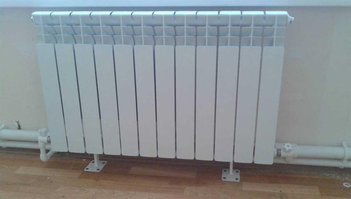 Установка алюминиевых радиаторов отопления СПб от Трубовар