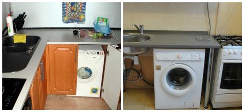 Установка и подключение стиральной машины на кухне СПб
