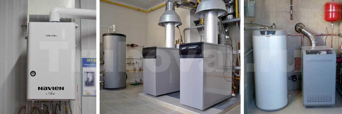 Установка и подключение газового котла отопления и горячего водоснабжения в частном доме СПб