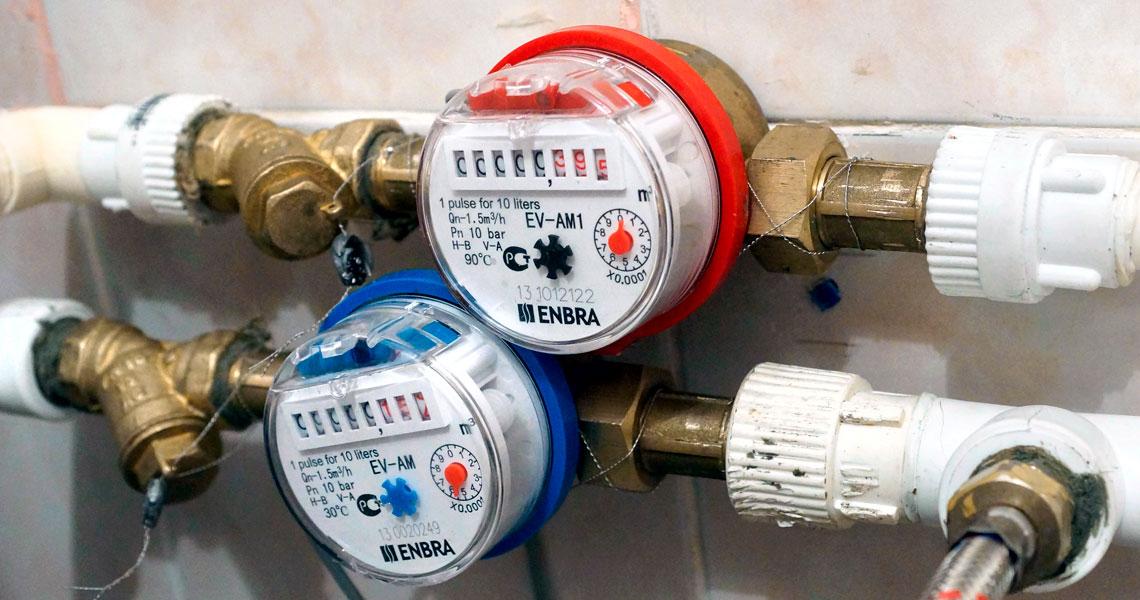Установка, замена счетчиков холодной и горячей воды в квартире СПб