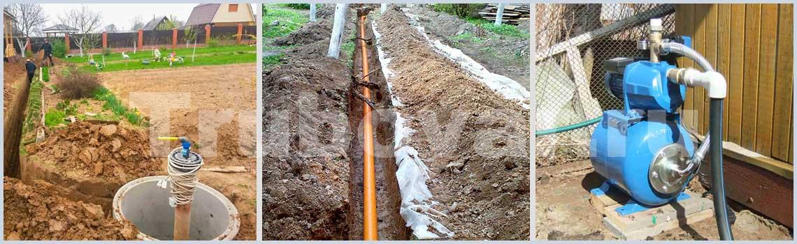Зимний водопровод на даче, в частном доме под ключ - Цена за монтаж в СПб
