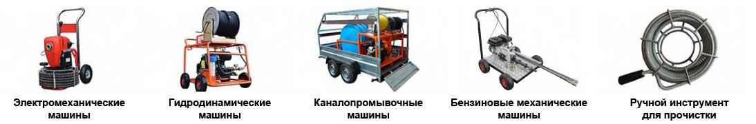 Машины для прочистки канализации СПб