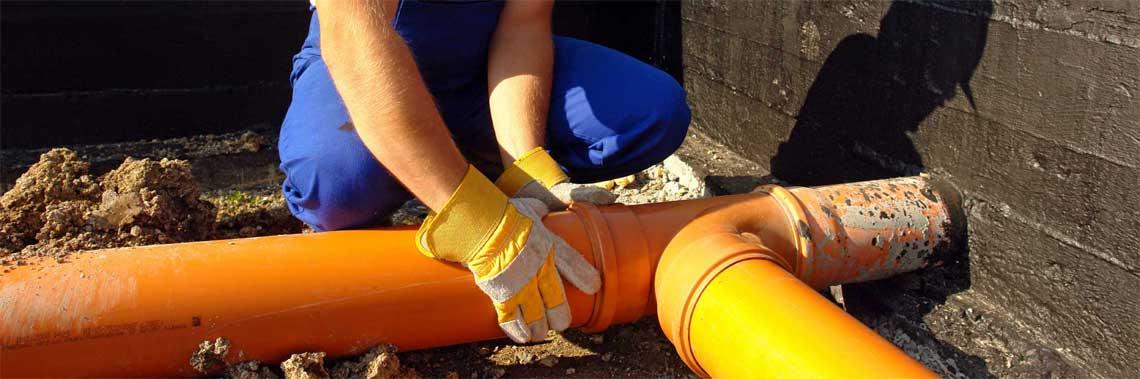 Монтаж системы канализации в частном доме, коттедже СПб