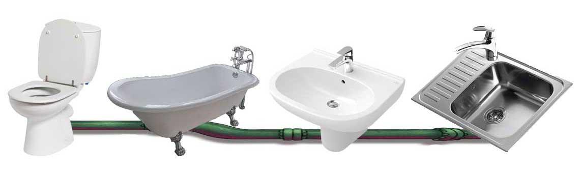 Устранение засоров в квартире - ванная, туалет, кухня СПб от Трубовар