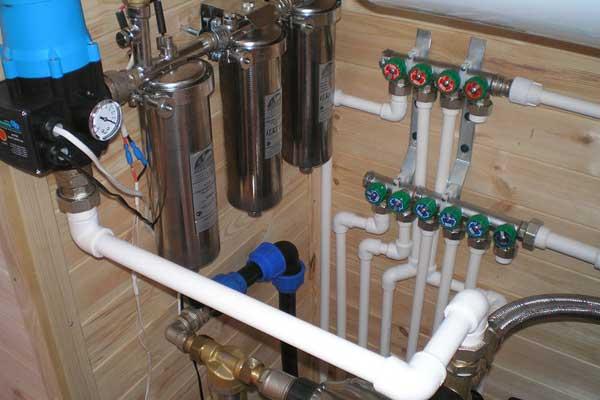 Водоснабжение в частном доме Водопровод на даче